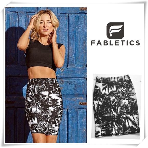 c5e800aed Fabletics Dresses & Skirts - FABLETICS Tropical Stretch Pencil Skirt
